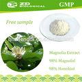 Hecho en china de magnolia extracto de flor de 98% honokiol para el músculo liso relaxant