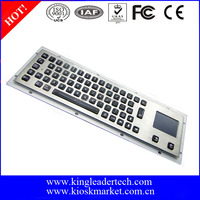 64KEYS rugged metal usb backlight keyboard with touchpad
