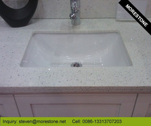 White Engineered Quartz Stone Vanity Counter tops