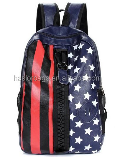 Nouveau Design de mode PU sac à dos grande fermeture éclair pour les adolescents