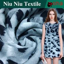 2015 Wholesales Fashion Style Rayon Wool Peach Print Fabric Animal Print Fabric Leopard Print Fabric , 100% polyester wool peach