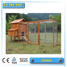 Top selling wooden chicken coop with long and large run