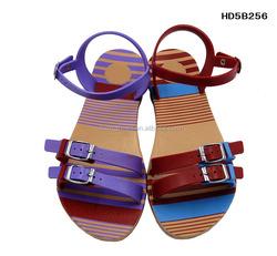 2015 Flat Ladies Fancy Footwear Fashion Sandal Shoes for Women