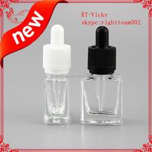 15ml bottle oil glass 15ml clear square glass dropper bottle glass dropper bottle childproof tamper evident cap