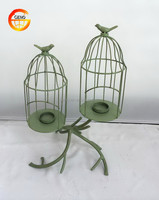 Hot selling iron wire bird cage candle holder