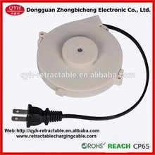 one way retractable spring loaded cable reel with plug