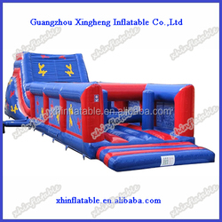Giant inflatable obstacle course/ inflatable obstacle combo with slide,rock climbing