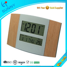 Sunny Radio Controlled Digital Wooden Table Clock
