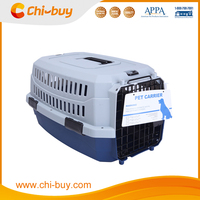 Chi-buy Fashion Pet Carrier Airline Approved Plastic Pet Carrier Blue and Gray Free Shipping on order 49usd
