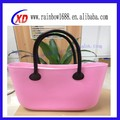 colorido tendencia popular de compras de silicona de silicona bolsa bolso de mano para damas