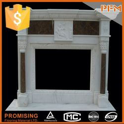 latest natural best price china white quartz fireplace surrounding