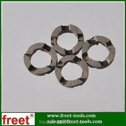 Crown shape diamond segments for core drill bits