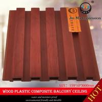 Non - Formaldehyde Emission Wood Plastic WPC Hall Ceiling Pop Design