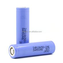 High quality 18650 rechargeable 3.7V samsung INR18650-29E 10A 2900mah for vaporshark