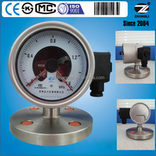 6 Mpa 100mm electric contact pressure gauge with sanitary diaphragm seal