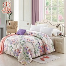 100%polyester material white duck feather duvet