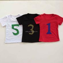 Wholesale new baby boy item kids clothes short sleeve baby boy football t shirt