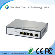 Built-in Power adopter 5 port Rj45 4 port poe PoE Switch/4 port Fast ethernet network PoE switch/Optical Fiber Switch
