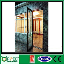 Aluminium swing glass door with australia standard new design hinged door