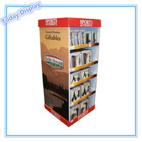 pop pos cardboard display stand for led floor paper display stand