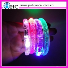 2015 hot sale led glow in the dark bangle bracelet