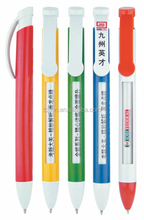 plastic window message ballpoint pen for promotion