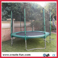 CreateFun 10ft cheap gymnastics round trampoline sets with full series trampoline replacement