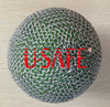 stainless steel ring mesh safety rubber ball covers