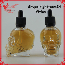 skull glass bottle e liquid 30ml with dropper child proof dropper factory sale China