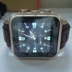 Fashion Android and Bluetooth for smart wrist watch with wifi/ heart rate watch Phone