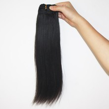 Human hair weft fast shipping light yaki straight hair weft