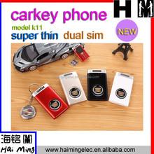 "2015 New arrival!!! 1"" Screen dual sim lovely car key Mini Cell Phone K11"