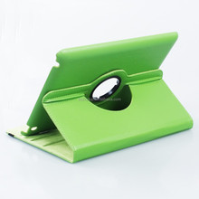 2015 Premium PU Leather Flip Folio Cover Rotate 360 degrees Leather Case for iPad Air 2 green