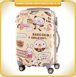 2015 cartoon designed cute ABS travel luggage bag, cheap price trolley luggage bag