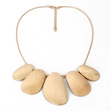 Modern fashion pure matte gold necklace wholesale bijoux jewelry shenzhen wholesale necklace jewelry