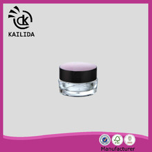Beautiful waist round drum shape 10ml cream cosmetic acrylic jar
