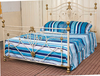Wholesale King Sizes iron bed for bedroom furniture