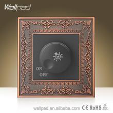 New Design Wholesaler Wallpad Luxury Zinc Alloy Panel UK Standard Light Lamp Regulation Switch 110-250V Dimmer Switch 240V