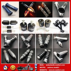 Universal Chrome Motor Motorcycle Hand Grips Cover Motorcycle Accessories for Harley