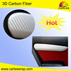 Carlas custom car accessory 3D carbon fiber car decoration carbon fiber wrap