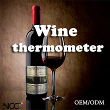 High quality OEM/ODM Liquid Crystal Metal Wine bottle Thermometer
