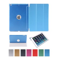 New Slim Utra thin PU case for iPad Smart case Stand for APPLE iPad 5 iPad Air back cover