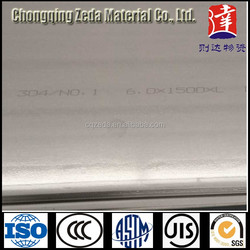 Factory directe sale 304 stainless steel sheet 6mm*1500mm*4200mm 304 Stainless Steel Metal Plate price per Tonelada longa