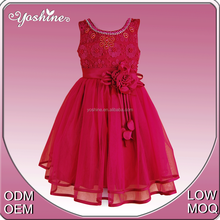 2015 Red Elegant and Beautiful Sleeveless Perfect Little Girls Princess Style Evening Dress for Kids