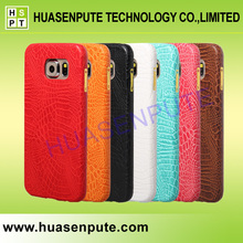 Luxury Holster Genuine Leather Mobile Phone Leather Case For Samsung Galaxy S6 Crocodile Leather Phone Case