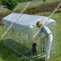 make to order cheap chain link dog kennel(manufactory)