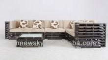 Rattan furniture garden sofa set big round wicker