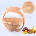 Apenas exportação fábrica venda eco- bambu cesta de dobramento