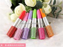 Rhinestone Sexy Lipstick Shape Ballpoint Pen