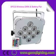 Dj Lights 13500 MHA Powered Battey Wireless DMX 9 lens 3W RGB 3in1 LED Party Wedding Uplights